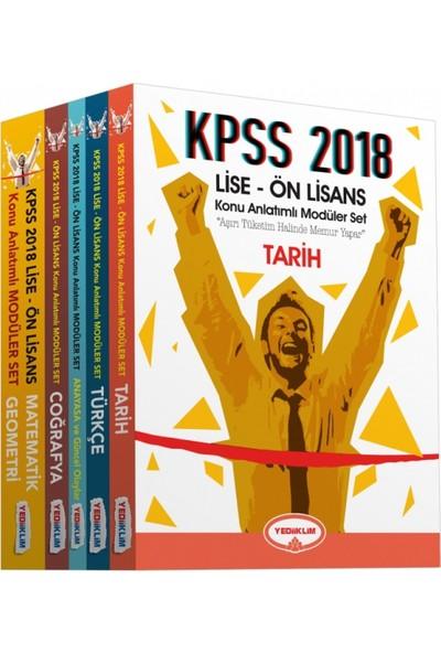 Yediiklim Yayınları 2018 Lise-Önlisans Modüler Konu Anlatımlı Set (5 Kitap )