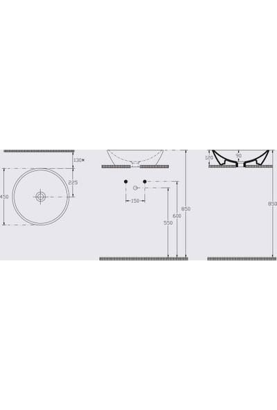 Sistema Y 45 cm Çanak Lavabo