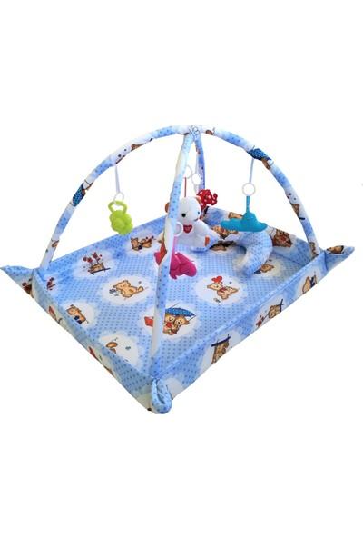 Baskaya Bebek Çocuk Oyun Halısı Pamuk Kumaş Çocuk Oyun Parkuru