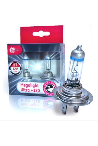 H7 Megalight Ultra +120 General Electric Far Ampulü