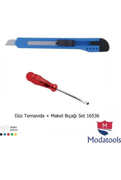 Modatools Düz Tornavida + Maket Bıçağı Set 16536
