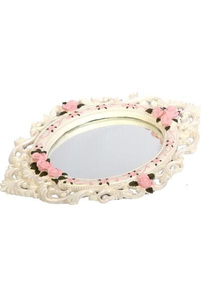 Madame Calonf Taştozu Vintage Çiçekli Ayna