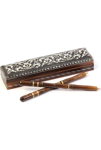 Madame Calonf Ahşap Kalem Seti - Hediye Kalem Seti - Kişiye Özel Kalem Seti - Versiyon 2