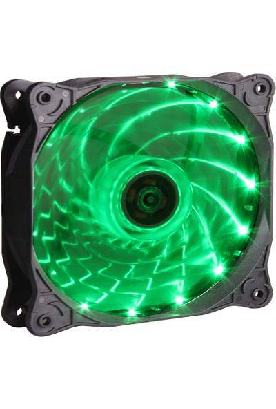 Gamepower GF-12G 12CM Yeşil LED Kasa Fanı