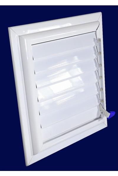 Simge 40X50 Beyaz Alüminyum Menfez Banyo Ve Wc Havalandırma Panjur