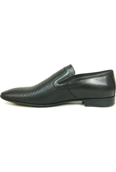 Tozkoparan 222 Siyah Bağcıksız Erkek Ayakkabı