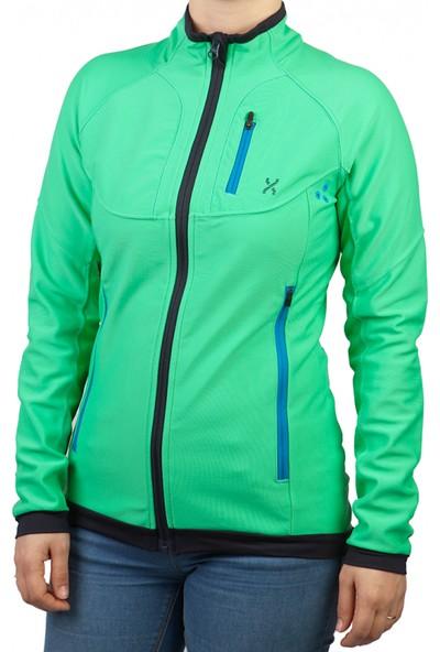 Exuma 172206 Kadın Koşu Ceketi Yeşil