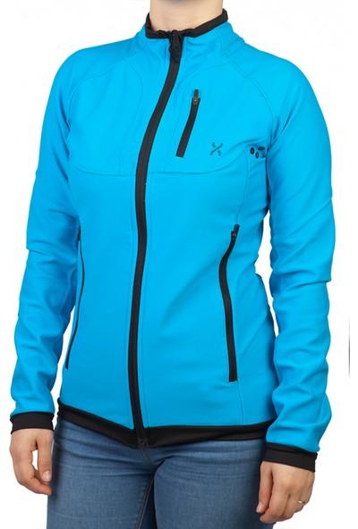 Exuma 172206 Kadın Koşu Ceketi Mavi