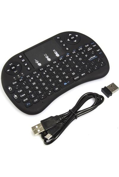 Mini Keyboard Ri İ8 Air Smart Tv Işıklı Mini Klavye Dokunmatik Mouse