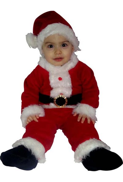 Kostümce Bebek Noel Baba Kostümü / Kız Erkek Uyumlu