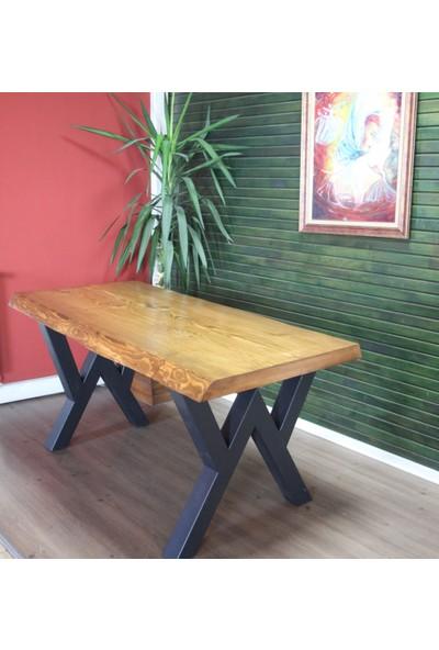 SZN Wood Kütük Masa Ladin Senem 150x75cm