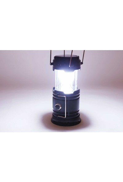 Kamp Lambası Güneş Enerjili Şarjlı Çift Taraflı Aydınlatma Çok Fonksiyonlu Avcı Feneri Çıkmalı