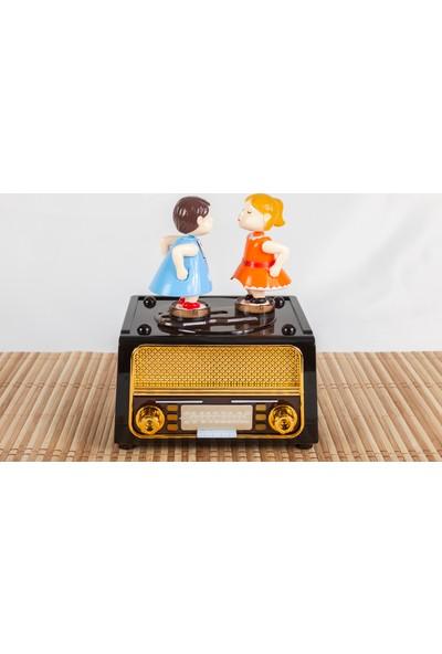 Nostaljik Radyo Müzik Kutusu - Hareketli, Çekmeceli - En Özel Hediye - Atlı Karınca - Müzikli Küre