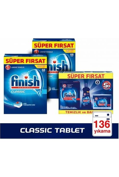 Finish Klasik Classic 136 Tablet + Bakım Seti