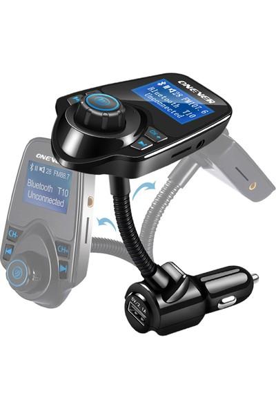 Gringo Yeni Sürüm T10 Wifi Bluetooth Araç Kiti Fm Usb Fm Transmitter + Araç Kiti