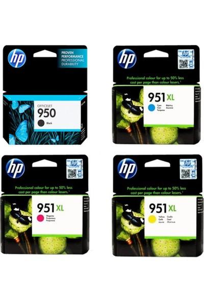 HP 950 - 951XL / CN049A / CN046A / CN047A / CN048A 4'lü Kartuş Seti