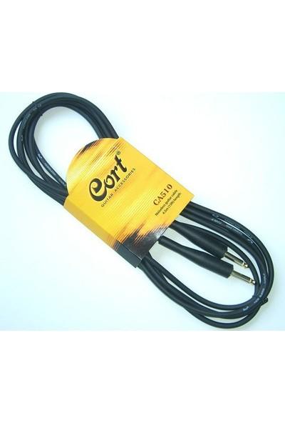 Cort Ca510 Gitar Kablo Gürültüsüz (Noısless) Cable 5M Siyah
