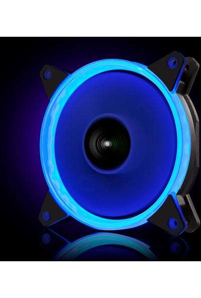 Gamepower GF-30B 12 cm Mavi Ring LED Mid Fanı