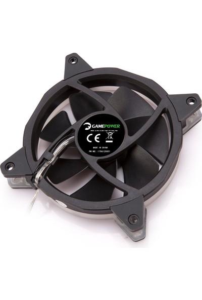 Gamepower GF-30R 12 cm Kırmızı Ring LED Mid Fanı