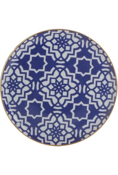 Porland Morocco Düz Tabak Mor 20Cm