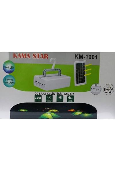 Kama Star Km-1901 Solar Enerjili Kamp Seti 1W+46 Led