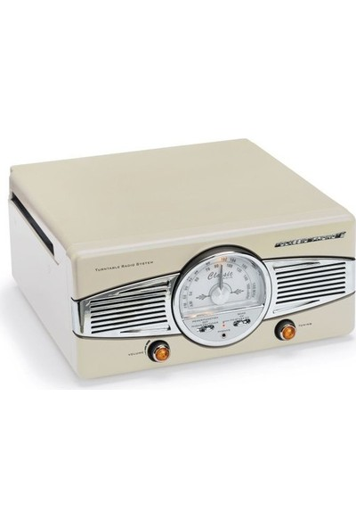 Classic Phono TT-28 C Dahili Hoparlörlü Retro Pikap (Bej) (Pikap İğnesi Hediye)