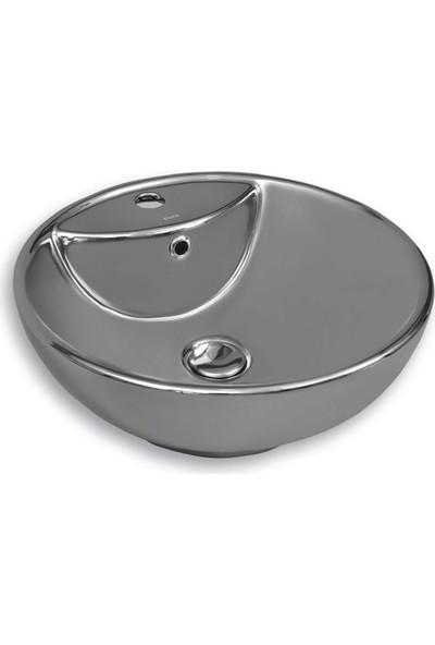 Pure S-200 47 cm Tezgah Üstü Gümüş Lavabo