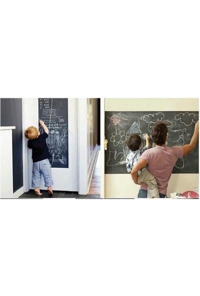 Zooyoo Restorant Otel Ofis Ev Çocuk Odası Kara Tahta Black Board Yazılabilir Silinebilir Sticker 200X40 Cm