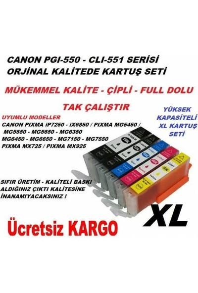 Asyaink Canon 550 - 551 Xl 5'Li Muadil Kartuş Seti Mg5450 - Mg6450 - Mx925 - İx6850