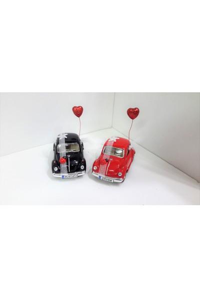 Hediye Aşkı Kişiye Özel Plakalı Siyah Kırmızı Süslü Vosvos Hediye Seti Sevgiliye Hediye