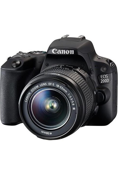 "Canon Eos 200D 18-55Mm 24.2Mp 3.0"" Dslr Fotoğraf Makinesi"