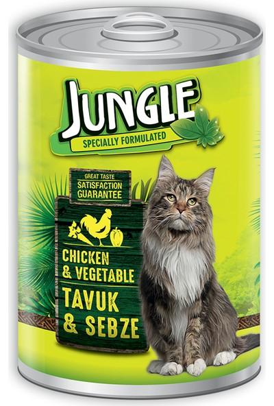 Jungle Kedi 415 gr Tavuklu-Sebzeli Konserve.