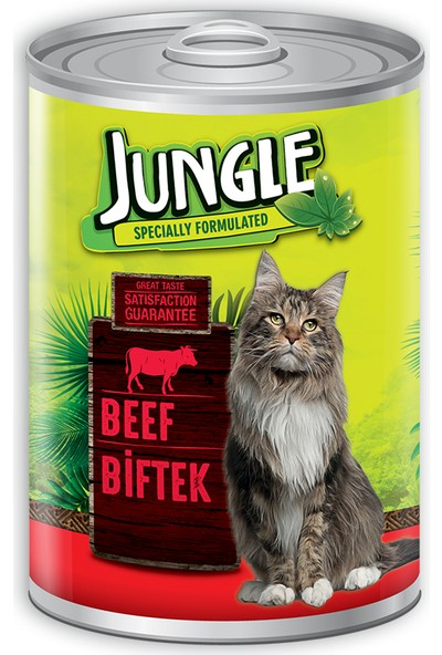 Jungle Kedi 415 gr Biftekli Konserve.