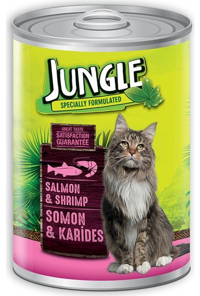 Jungle Kedi 415 gr Somonlu-Karidesli Konserve.