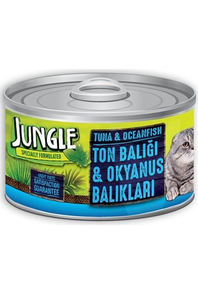 Jungle Kedi 85 gr Ton-Okyanus Balıklı Yaş Ezme Mam