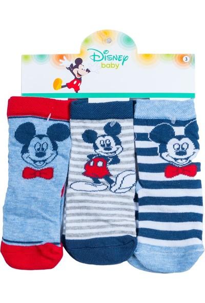 Mickey Mouse MC12323 Bebek 3'lü Soket Çorap