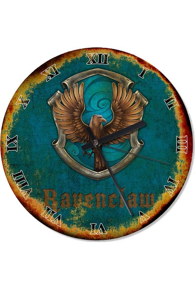Tablomega Ravenclaw Harry Potter Tasarım Duvar Saati 30 X 30 Cm