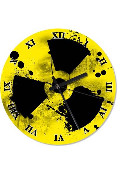 Tablomega Radyasyon Simgesi Duvar Saati 50 X 50 Cm