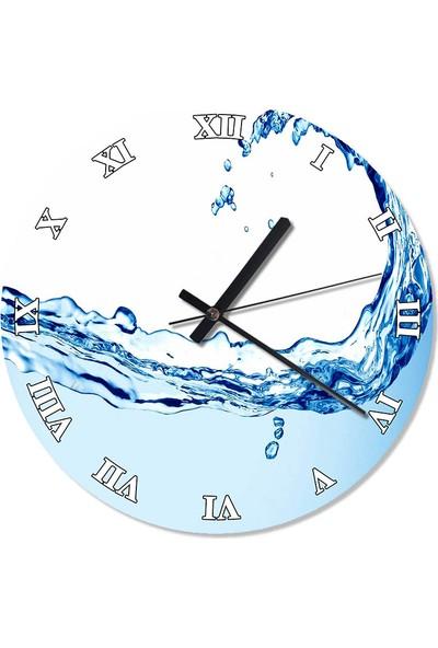 Tablomega Suyun Esnekliği Akarlı Duvar Saati 50 X 50 Cm