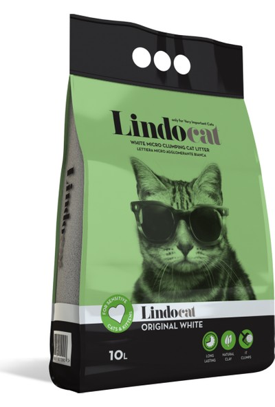 Lindo Cat Kokusuz İnce Kedi Kumu 10 Lt