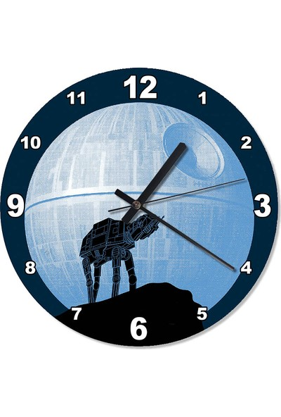 Tablomega starwars moon Akarlı Duvar Saati 30 X 30 Cm