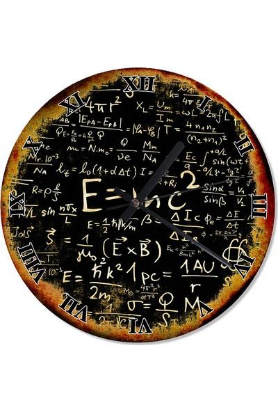 Tablomega E=Mc2 Albert Einstein Şekilli Duvar Saati 50 X 50 Cm