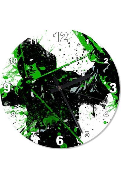 Tablomega Green Arrow Şekilli Duvar Saati 30 X 30 Cm