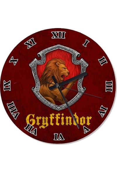 Tablomega Gryffindor Harry Potter Tasarım Duvar Saati 30 X 30 Cm