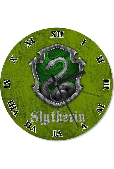 Tablomega Slytherin Harry Potter Desenli Duvar Saati 50 X 50 Cm