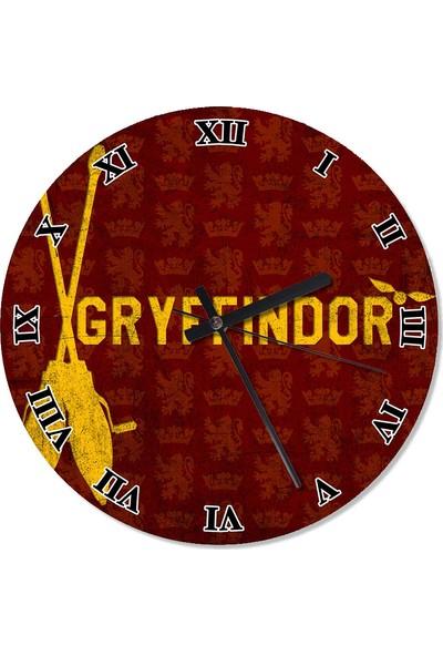 Tablomega Gryffindor Harry Potter Duvar Saati 30 X 30 Cm