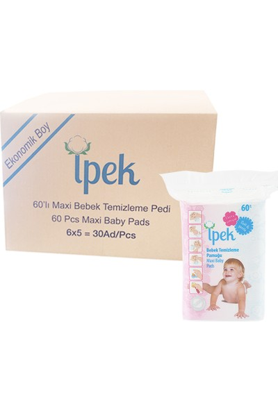 İpek Hidrofil Maxi Bebek Pedi 60'lı x 30 Paket