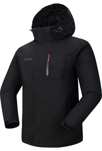 2AS Elbruz 3İn1 Erkek Mont Siyah