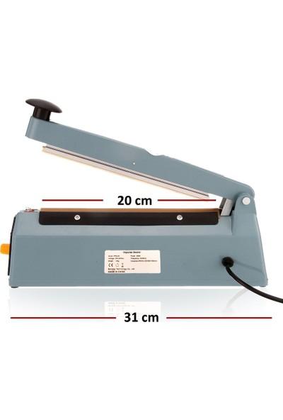 PFS-200 Poşet Ağzı Kapama Yapıştırma Makinası Metal Gövde