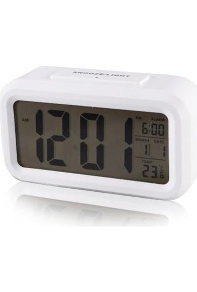 Diwu Optik Masaüstü Saat Takvim Termometre Beyaz